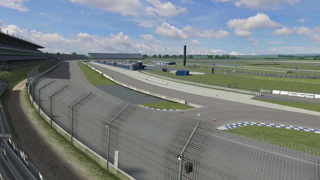 Rockingham start / finish and pits