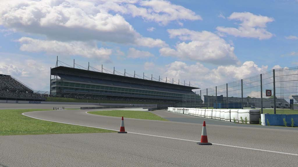 Exit the pits onto the Rockingham oval
